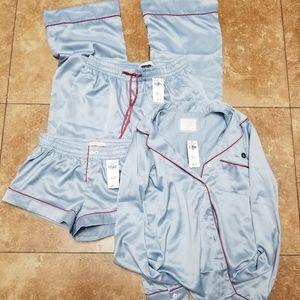 Abercrombie & Fitch 3pc silk sleepwear PJ XS NWT